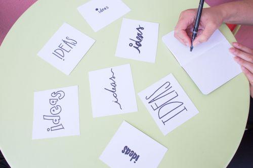 brainstorm ideas notes