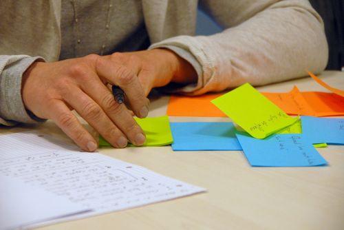 brainstorming business professional
