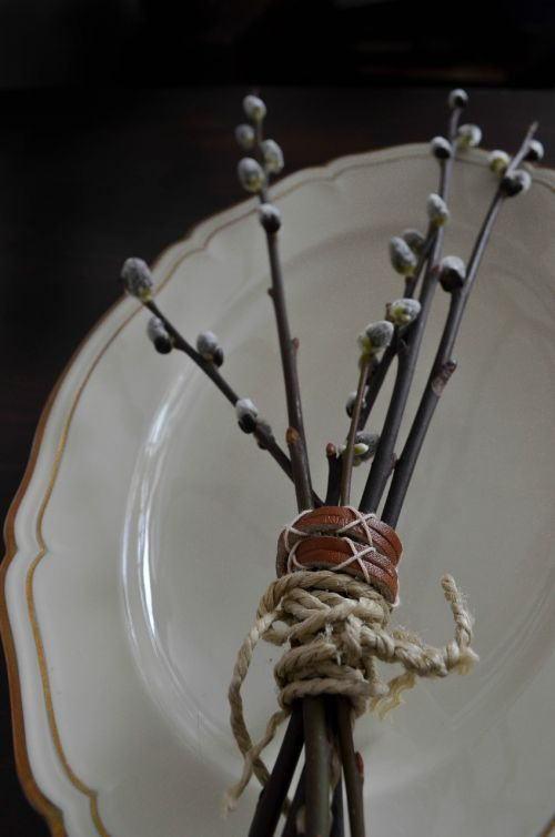 branches easter plate