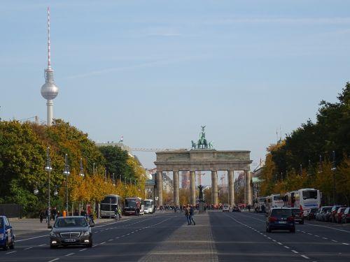 brandenburg gate berlin autumn