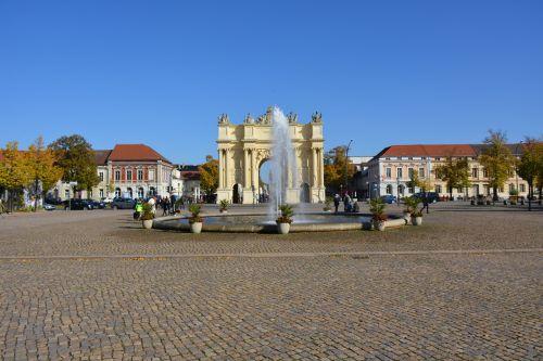 brandenburg gate potsdam luisenplatz