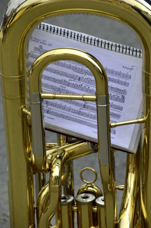Žalvaris, auksas, muzika, tuba, pertvara, džiazas, orkestras, simfonija, be honoraro mokesčio
