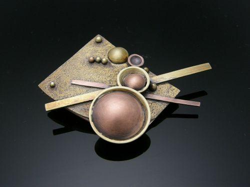 brass brooch ball work