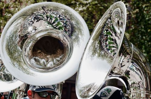 brass band reflections tuba