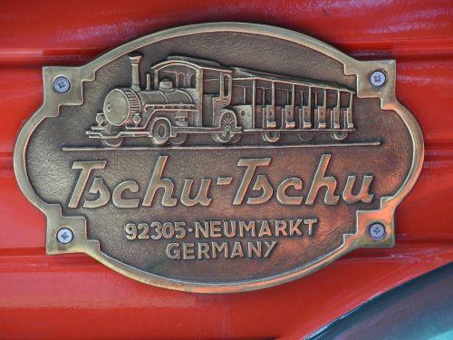 brass plaque train golden
