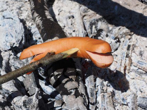 bratwurst grill sausage red