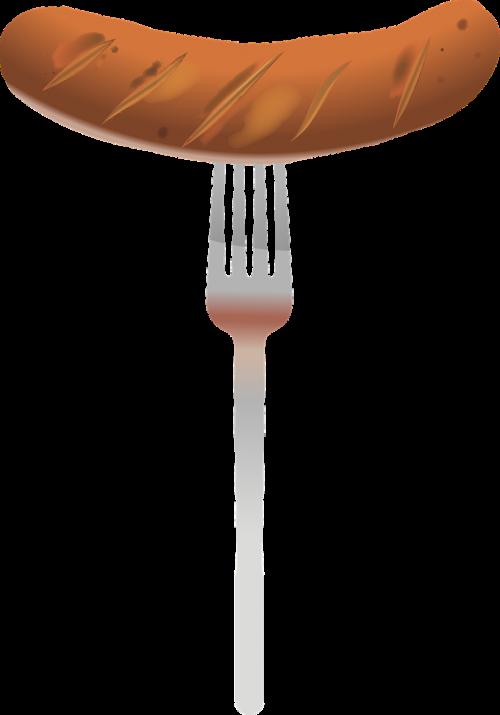 bratwurst fork barbecue