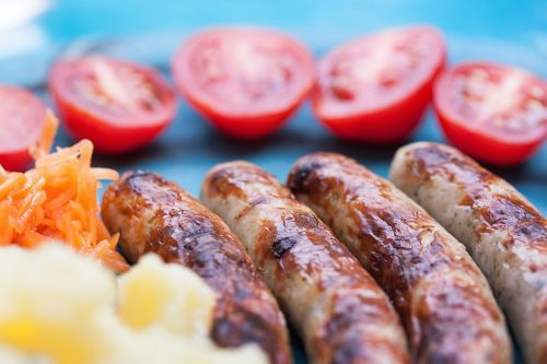 bratwurst sausage grill sausages