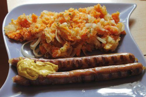 bratwurst thuringian mashed potatoes