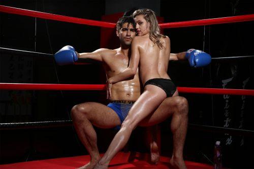 brave boxing woman wild