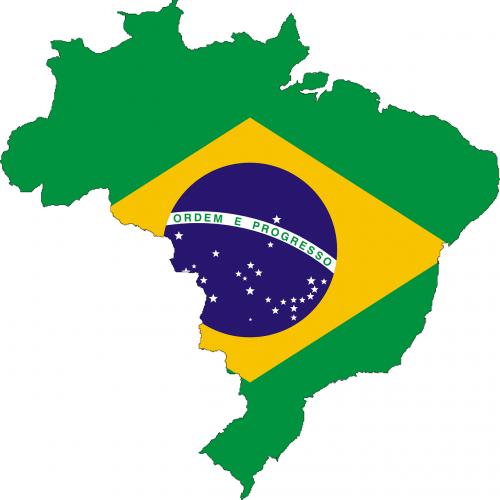 brazil flag map