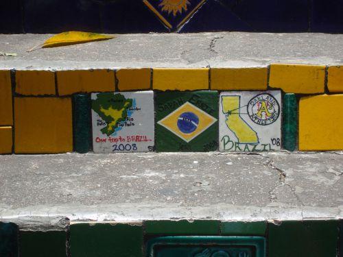 brazil rio de janeiro steps