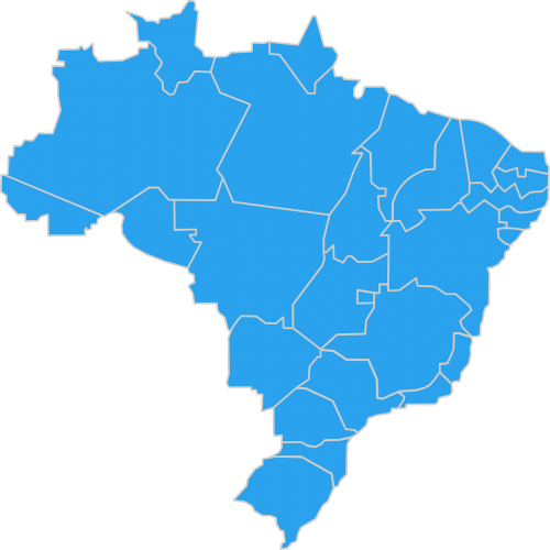 brazil map geography