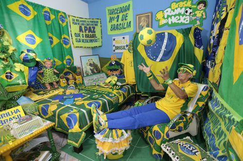 brazil fan football