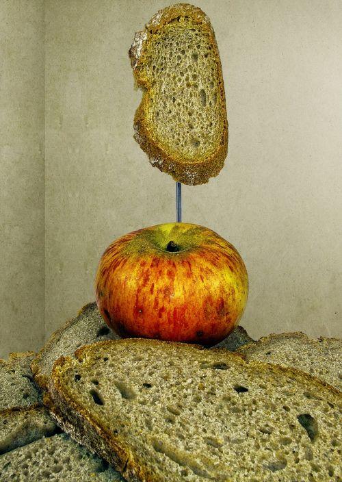 bread bread slices apple