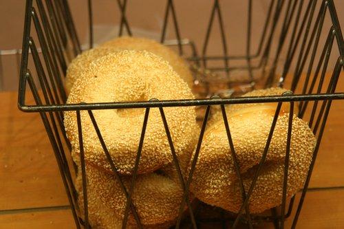 bread  bagel  food