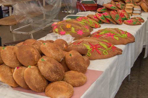 bread pan de muerto zaachila
