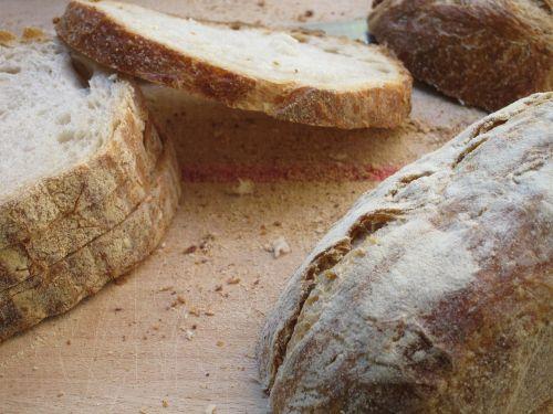 bread sliced food