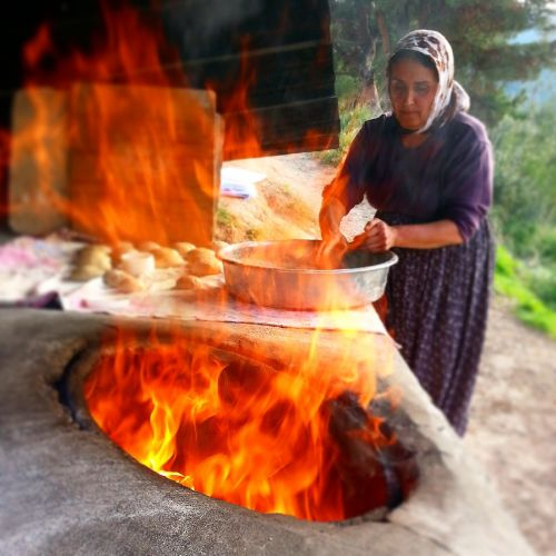 bread village the village woman