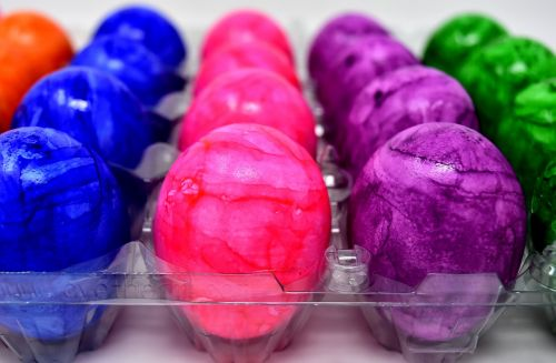bread eggs easter eggs colored