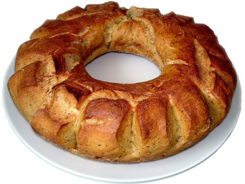 bread ring bread baked bread