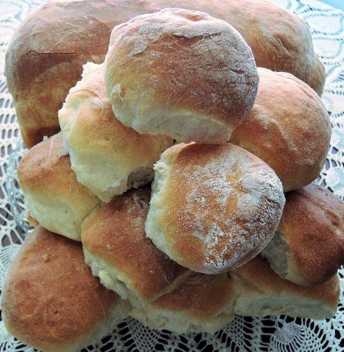 bread rolls white flour yeast