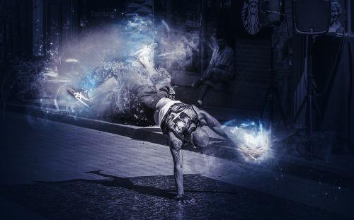 break dance performer action