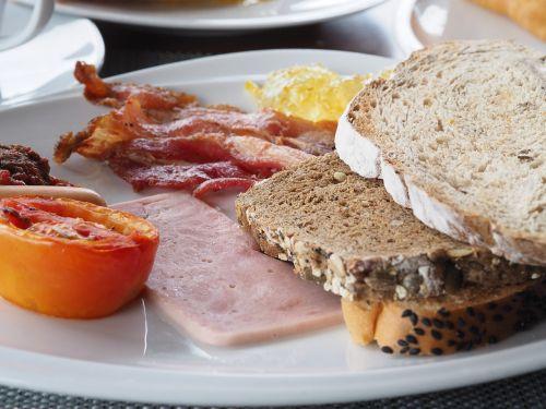 pusryčiai,duona,bacon,dešra,kaukazo virtuvė,maisto produktas,kumpis