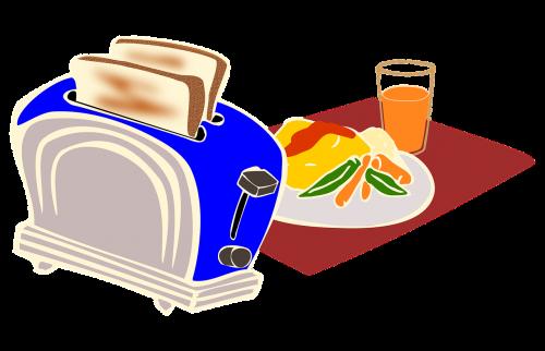 breakfast toaster bread