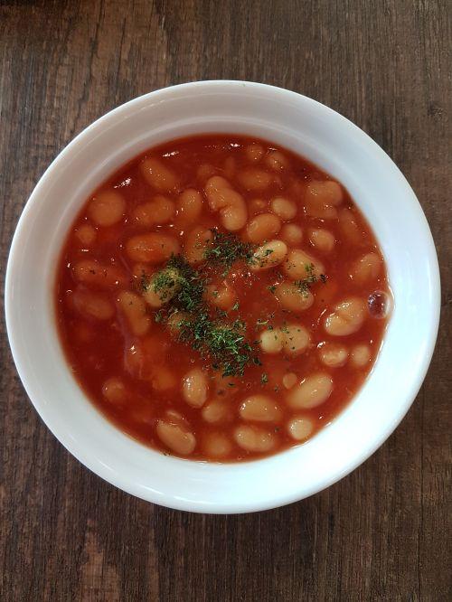 breakfast baked bean meal