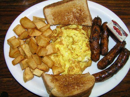 breakfast toast hash browns