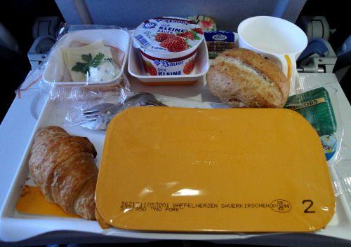 breakfast plane food