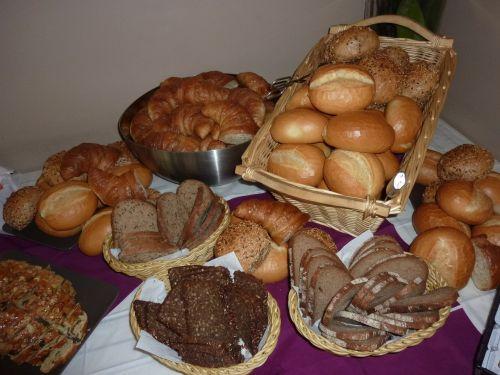breakfast buffet bread breads