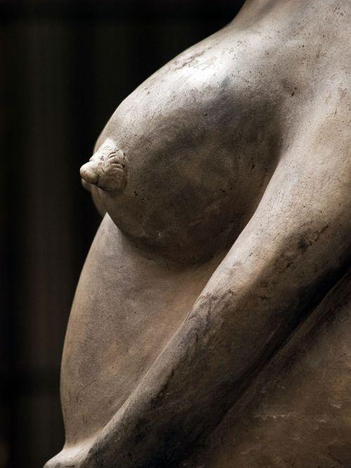 krūtinė,plikas,skulptūra,statula,Moteris,speneliai