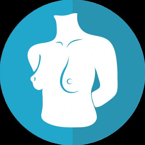 breast icon female torso woman