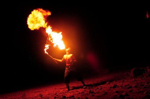 breathing fire fire-eater fire