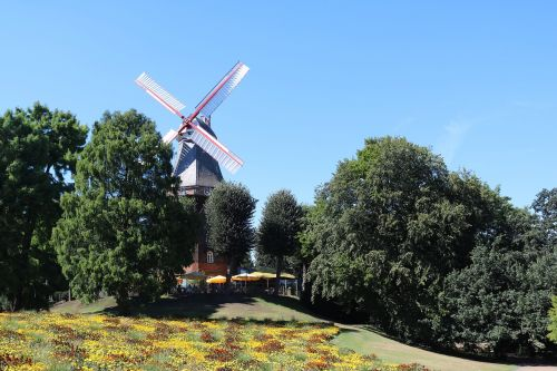 bremen windmill on wall city