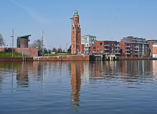 bremerhaven  lighthouse  landmark