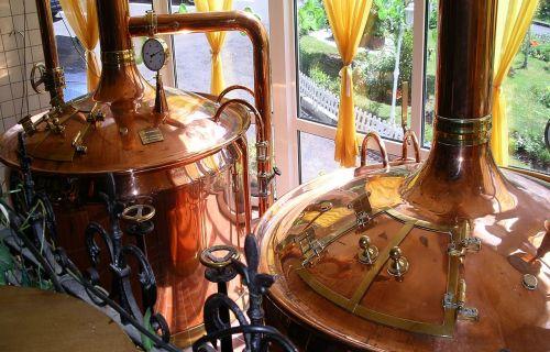 brew copper boiler brewery