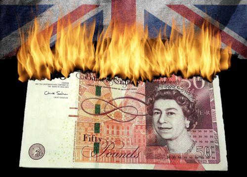 brexit england burn money