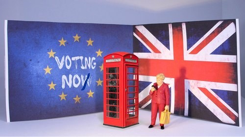 brexit  united kingdom  miniature figures