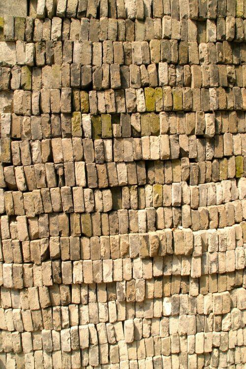 brick clinker stone wall