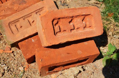 brick embossing red brick