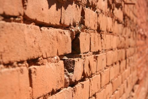 brick wall hole