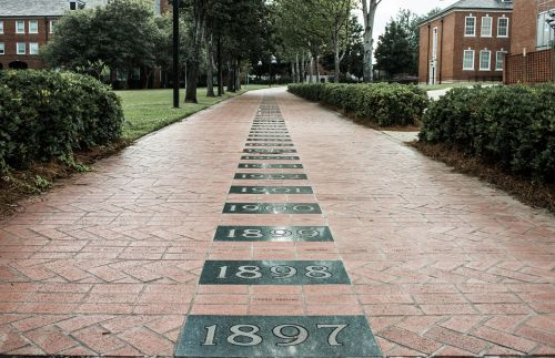 brick path walkway