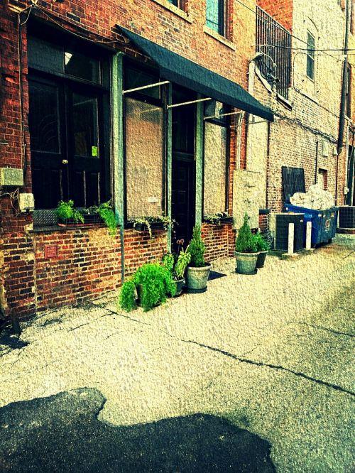 brick urban quaint