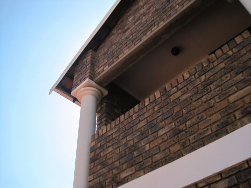 Brick Building With Pillar