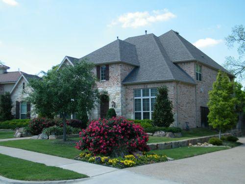 brick house yard porch