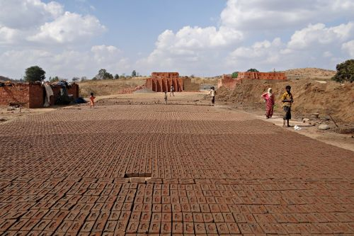 brick-laying brick-making brick-kiln