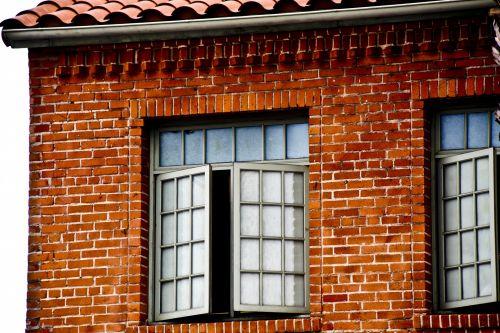 plyta, stiklas, langai, langas, mokykla, architektūra, plytų mokyklos langai